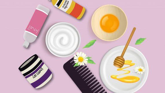 ماسکهای خانگی و طبیعی  ماسک مو برای موهای وز